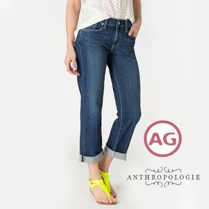 "AG + ANTHROPOLOGIE | ""Simona"" Easy Straight Jeans"